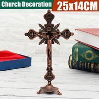 Tischdeko Kruzifix Jesus Christus Stand Kreuz Figur Statue Christuskorpus Deko
