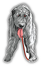 Irish Wolfhound Dog Car Bumper Sticker Decal 3'' x 5''