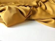 "NEW Best Mustard Colour Crepe-de-chine Silky Fabric Dress Garment 60""151 C jdore"