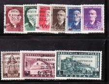 ALBANIA Sc 345-53 NH ISSUE OF 1945 - FIRST INDEPENDENCE SET OVERPRINT