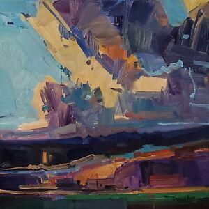 JOSE TRUJILLO Oil Painting IMPRESSIONISM American Landscape Clouds Sky MODERN