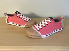 Sorel Sentry Womens US Size 5 Canvas Shoe Sneaker Coral Pink Tan Rubber Toe