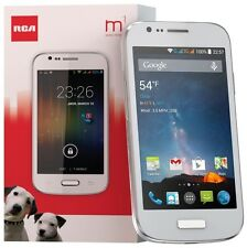 RCA M1 Unlocked Cell Phone, Dual SIM, 5MP Camera, Android 4.4, 1.3GHz White