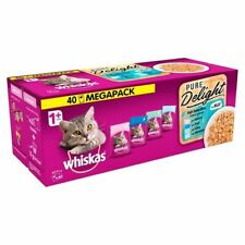 Whiskas 1+ Cat Pouch Pure Delight Fish Jelly 40 x 85g - 262127