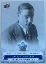 2017 CHARLIE CONACHER UD TORONTO MAPLE LEAFS CENTENNIAL RETIRED NUMBERS SP #128
