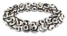 😏 Achat DZI Beads Strang facet. Kugeln 10 mm Kreise Perlen agate 😉 ACHA-19