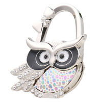 Owl Folding Bag Handbag Purse Table Hook Hanger Holder Foldable Table Decor