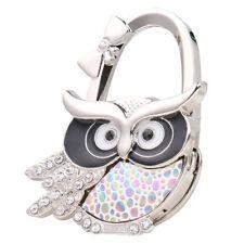 Owl Folding Bag Handbag Purse Table Hook Hanger Holder Foldable Table Decor
