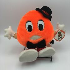 Orange Plush Top Hat Red Shoes Vintage Fair Carnival Prize Shalom Toy Co Inc 12""