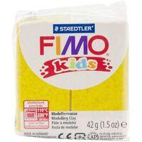 Fimo Kids Giallo Glitter 42g Pasta Modellante Modellabile Hobby Scuola Arte