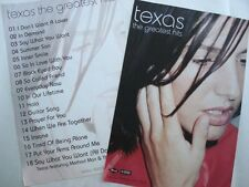 "Texas ""Greatest Hits"" 2- Sided U.K. Promo Poster - Close-up of Sharleen Spiteri"