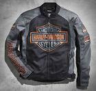 Men's Harley Davidson Black & Grey Bar & Shield Logo Mesh Jacket