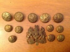 ww2 British General Service Corps Cap Badge And Buttons.
