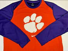 NEW 2XL Nike Clemson Tigers DRIFIT Light Long Sleeve Shirt Polyester SOFT