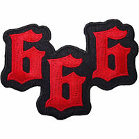 666 Devil Satan Embroidered Iron / Sew On Patch Jeans Coat Bag Fancy Dress Badge