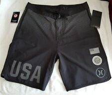 Brand New HURLEY Phantom Team USA Olympic Board shorts Swim Trunks 28 Black $80