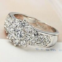 Unique Elegant Classy Traditional Beautiful Stunning Ring Crystals Size 6 7 8 9