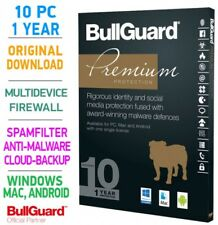 Bullguard PREMIUM PROTECTION 2018 Multidevice 10 PC 1 Jahr - TOP!