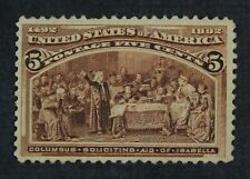 CKStamps: US Stamps Collection Scott#234 5c Columbian Unused Regum