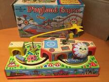 Yone 2186 Playland Express Tin Plate Toy clockwork Yoneya Japan VNMIB