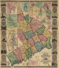 United States of America Connecticut Antique North America City Maps on