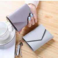 Women's Short Small Wallet Ladies Leather Folding Coin Card Holder Money Purse
