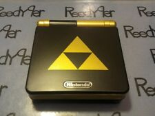 *MINT* Black & Gold Zelda TRIFORCE GameBoy Advance SP AGS-101 Nintendo System gb