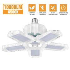 100W LED Garage Light Bulb Deformable Ceiling Fixture Lights Workshop Lamp