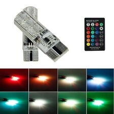 2x Multi Color T10 5050 SMD RGB Remote Controller Reading Wedge Light Lamp 6 LED
