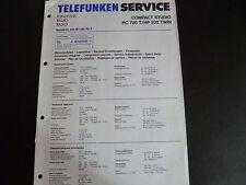 Original  Service Manual  Telefunken RC 780 T HP 202 TWIN