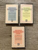 3 Cassettes Lot The Worlds Favorite Piano Music (Vol. 1-3) Philippe Entremont