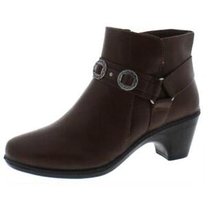 Easy Street Womens Bailey Faux Leather Harness Ankle Booties Shoes BHFO 8617