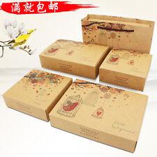 Cupcake Muffin Boxes Cake Gift Packing Anniversary Candy Macarons Kraft Paper
