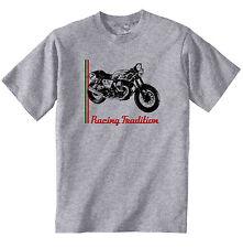 MOTO GUZZI V7 CAFE RACER-Nuovo T-Shirt grigio Cotone-Tutte le taglie in magazzino