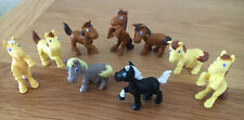 Miniature Ponies/Horse/Equestrian Toy Figures x 9