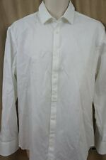 Alfani Mens Casual Shirt Sz M Bright White Business Button Down Front Shirt
