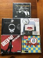 5x American Rock Band Cd Albums Green Day Red Hot Chilli Peppers Bundle Job Lot