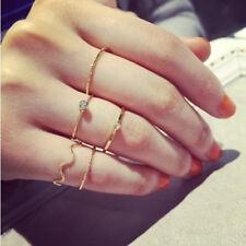 5 Pcs/Set New Women Girls Rhinestone Wedding Finger Knuckle Tail Rings Jewelry