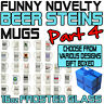 Funny Beer Stein Frosted Glass Novelty Pint 16oz Birthday Gift - SUPER BG4