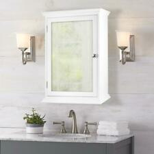 Home Decorators Fog Free Framed Recessed Bathroom Medicine Cabinet White Mirror