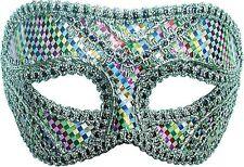 Harlequin Multi Coloured Masked Ball Mardi Gras Eye Mask