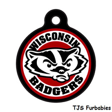 Wisconsin Badgers College Custom Personalized Pet Id Tag for Dog & Cat Collars