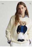 NWT Polo Ralph Lauren Captaint Sailor Bear Cotton  Knit Crewneck Sweater Sz M