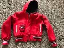 Red Hooded Wool Type Hooded Jacket