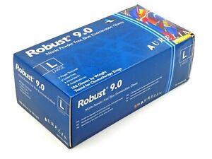 Aurelia Robust 9.0 Powder Free Blue Nitrile Examination Gloves Size L 1 Box New