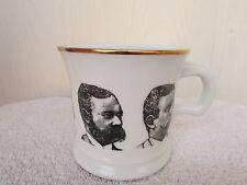 Vintage Antigue Shaving Soap Mug Faces Of Thoedore Roosevelt Gold Trim