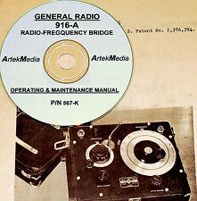 General Radio 916a Rf Bridge Ops Service Manual