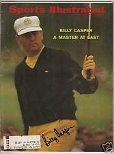 BILLY CASPER Signed/Auto. Sports Illustrated - MASTERS