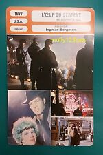 US Drama The Serpent's Egg David Carradine Ingmar Bergman French Film Trade Card