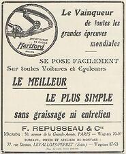 Z8748 Amortisseur de chocs HARTFORD - Pubblicità d'epoca - 1925 Old advertising